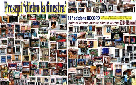 """Sassello, 12^ edizione dei """"Presepi dietro la finestra"""""""