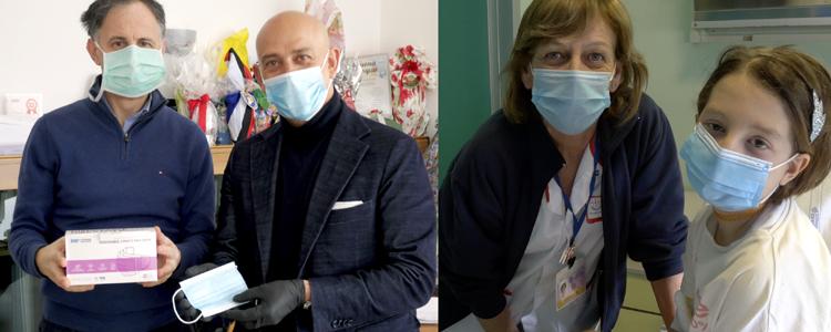 mascherine, ospedali pediatrici, gaslini, coronavirus