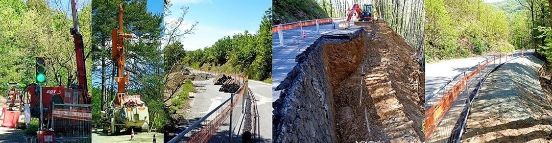 Sassello – Urbe numerosi cantieri in corso sulla strada provinciale 49