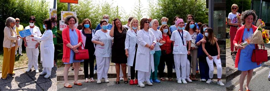 Eccellenza Donna Fidapa alle infermiere e dottoresse dell'Ospedale di Albenga