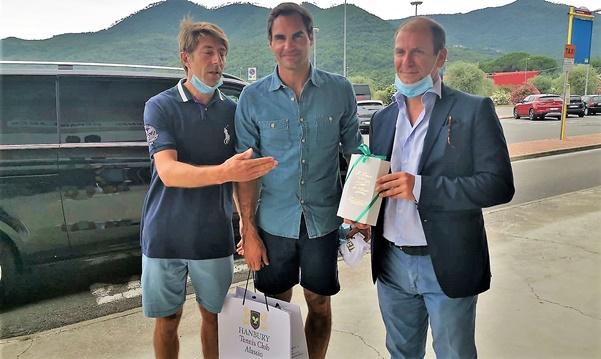 Roger Federer, alassio, Hanbury Tennis Club, sport, curiosità