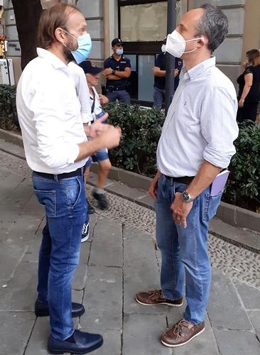 Liguria elezioni. Il candidato Niero (Pd) incontra Sansa su infrastrutture e lavoro
