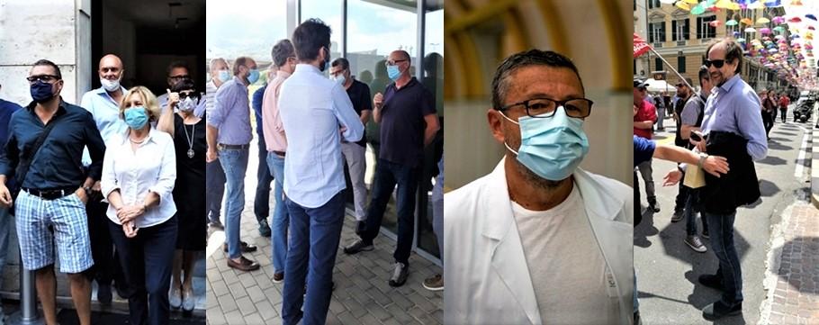 Liguria elezioni. Candidati in campagna elettorale: Zunato, Niero, Brunetto, Pastorino