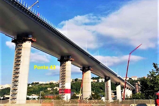 ponte san giorgio, genova, ponte 43, riflessioni