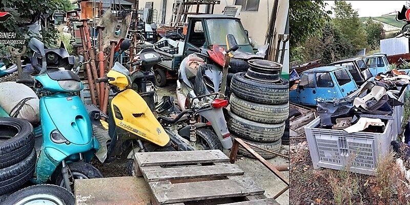 auto e moto abbandonate