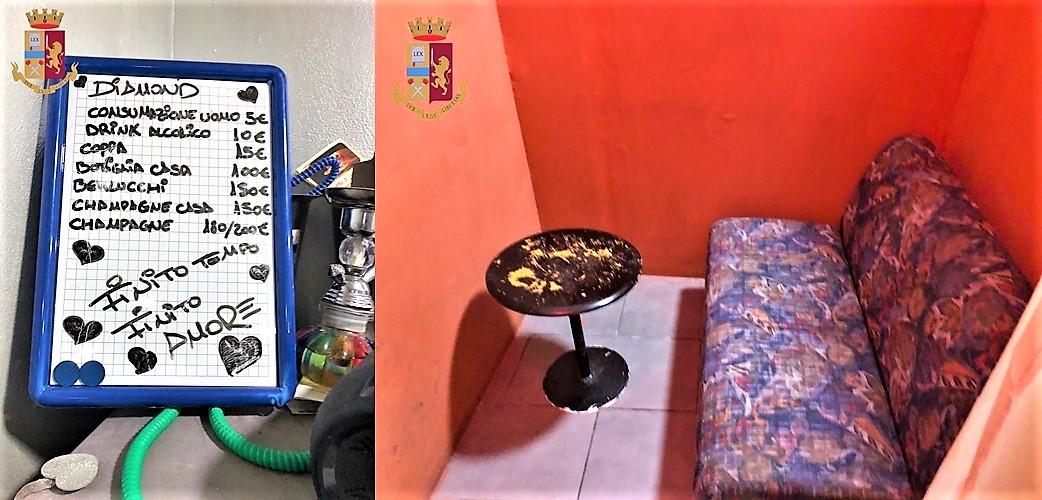 Blitz della Polizia di Genova al Club Diamond: sorprese 8 ragazze dell'Est e 4 uomini, locale sequestrato