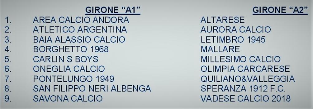Il Savona Calcio riparte dalla Prima Categoria, domenica 5 via al campionato