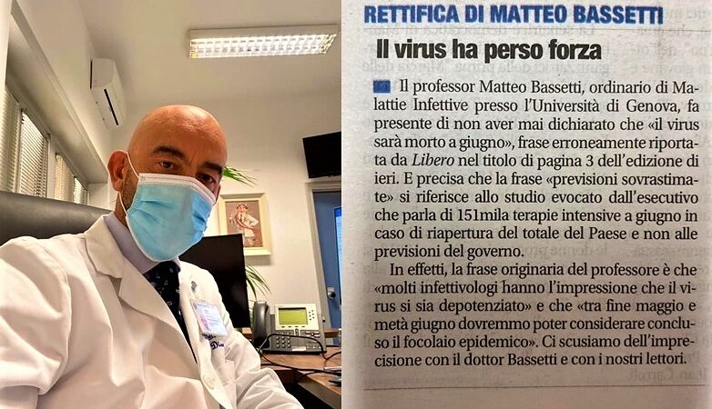 matteo bassetti covid, fake news covid