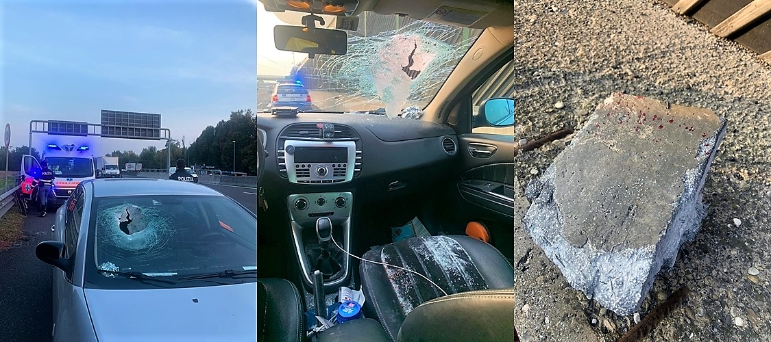 Masso sulla A1 Autosole ferito grave un consigliere regionale, le preoccupazioni degli autotrasportatori