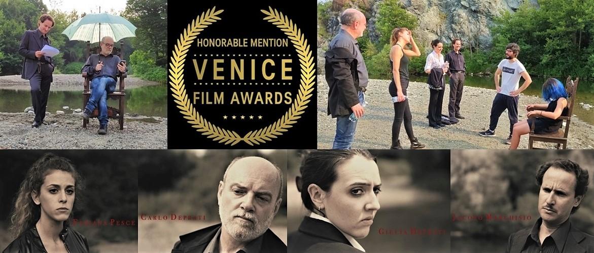 """Minardi e la sua troupe portano """"Dickens"""" (e Sassello) a conquistare il Venice Film Awards quale miglior serie"""