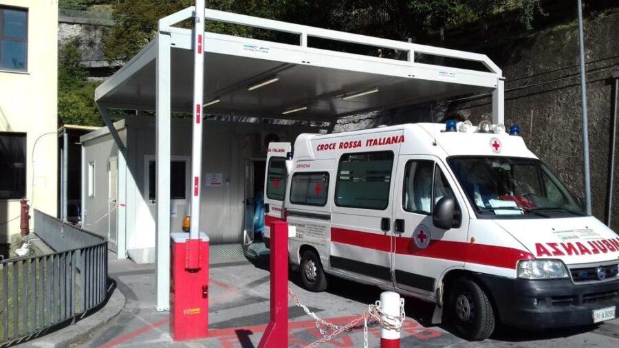 Ospedale San Martino. Terminati i lavori del nuovo punto di triage respiratorio