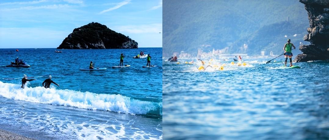 Nuoto acque libere. Spotorno Bergeggi verso la 10^ Swimtheisland nel Golfo dell'Isola