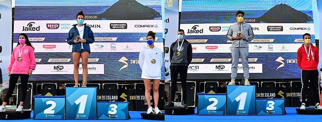 Swimtheisland, nel Golfo savonese vincono Alisia Tettamanzi e Matteo Furlan
