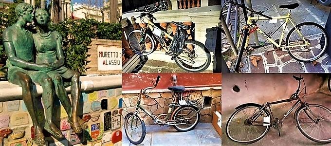 alassio città degli innamorati, biciclette di alassio