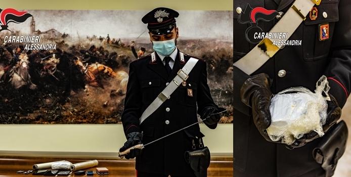Blitz dei carabinieri di Alessandria e Acqui Terme, 4 arrestati con mezzo chilo di cocaina valore 50mila euro