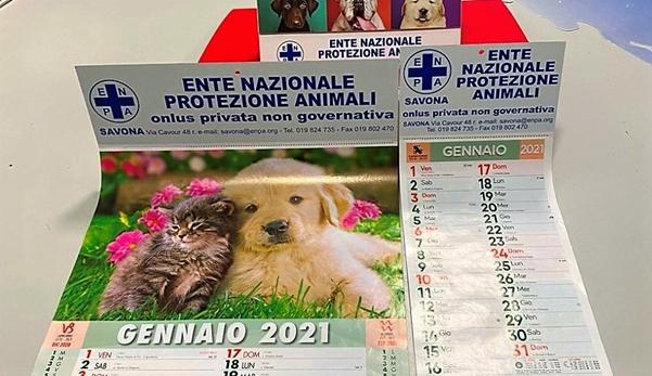 enpa savona, calendario 2021 protezione animali