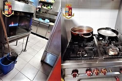 Blitz della Polizia presso esercizi commerciali Val Bisagno: chiusa gastronomia coi sigilli