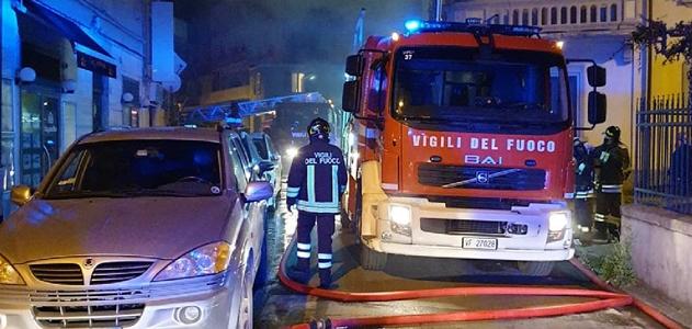 Intervento Vigili del Fuoco per incendio abitazione La Spezia