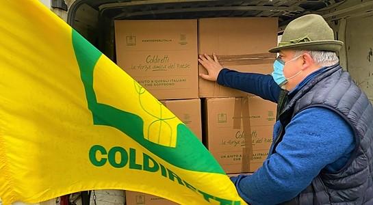 Famiglie bisognose liguri. In consegna duemila chilogrammi di cibo italiano dalla Coldiretti