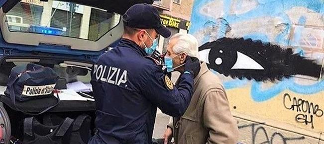 80enne di Castelletto, solo, nel giorno di Natale, salvato dal vicino che chiama la Polizia