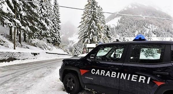 38 multe per chi ha giocato sulla neve nell'entroterra di Savona