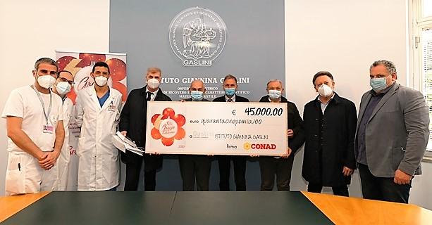 gaslini donazione conad robot da vinci