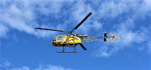 controlli linee elettriche enel con elicottero