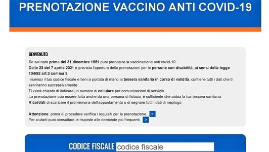 disabili prenotazione vaccino in liguria