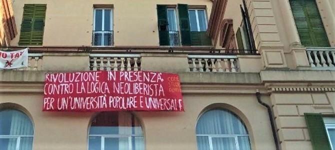"""Università Genova occupata dal collettivo """"Come studio?"""""""