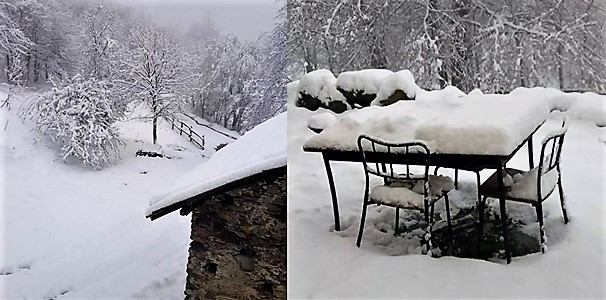 voce del sassello e neve 11 aprile