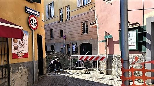 Sassello lavori, di nuovo ribaltato il centro storico