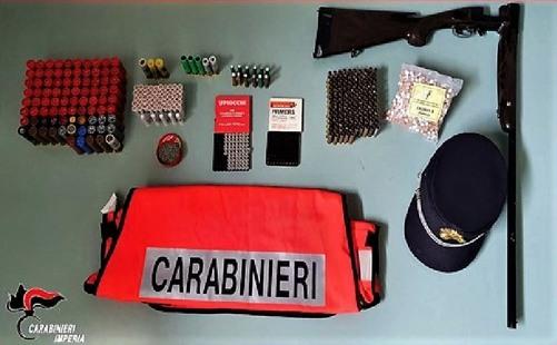cacciatore di frodo preso a taggia da carabinieri