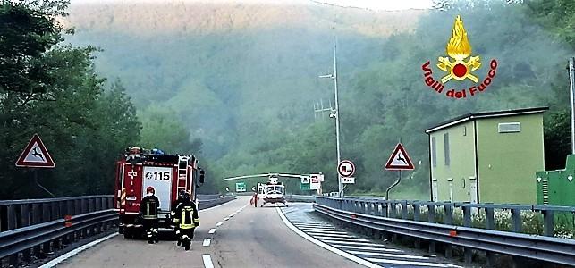 incidente moto sulla busalla bolzaneto A7