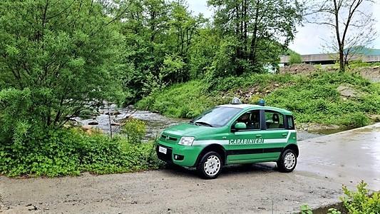 carabinieri forestali val bormida per deposito materiale vicino Bormida