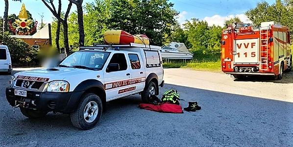 Vigili del Fuoco La Spezia soccorso donna caduta in acqua