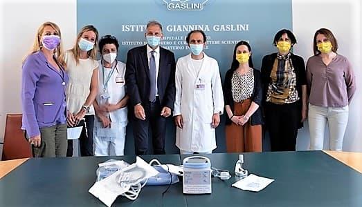 donazione coldiretti donne al gaslini di genova