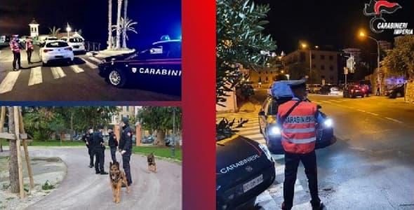 Carabinieri Imperia interventi luglio 2021, 25 arrestati