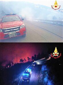 Liguria 2 incendi a Framura