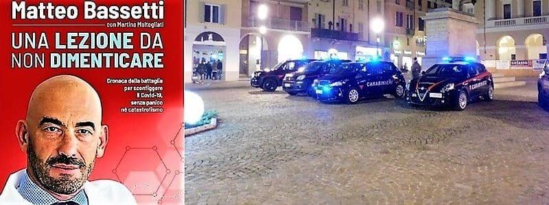 bassetti contestato dai NoVax a Novi Ligure una denuncia