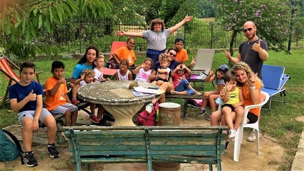 I bimbi del Beigua Kids Sassello in visita a RedazioneNews