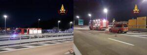 incendio 3 furgone ponte San giorgio