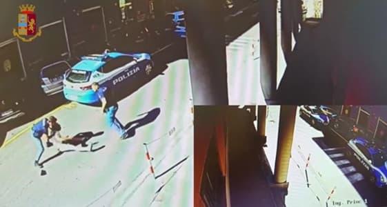Genovese cerca di aggredire un poliziotto con una pietra, Denunciato