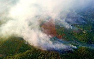 Incendio 2 Cisano sul Neva riprese operazioni spegnimento