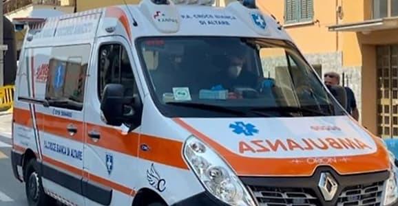 Incidente Gran Fondo Carcare Ambulanza Altare verso il Santa Corona