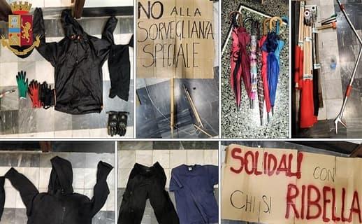 Manifestazione anarco-insurrezionalista a Genova a favore di sorvegliato