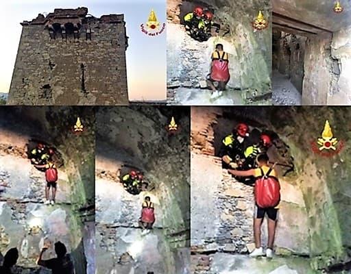 Ragazzino scala il forte Fratello Minore al Righi, salvato dai Vigili del fuoco
