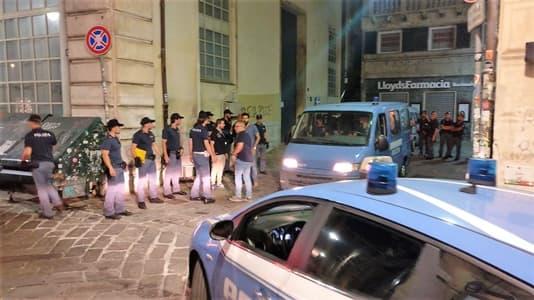 Polizia di Genova servizi straordinari nel centro storico: due arresti