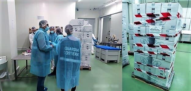 Savona, nel costo del pesce anche il ghiaccio, sequestrate 2 tonnellate