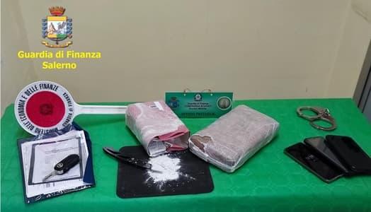 Due giovani di Sanremo arrestati a Salerno con un chilo di cocaina