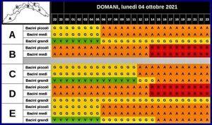 Liguria Allerta rossa per lunedì 4 ottobre